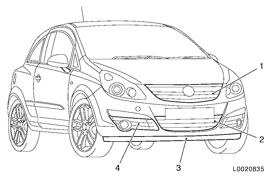Vauxhall Workshop Manuals > Corsa D > B Paint > Painting