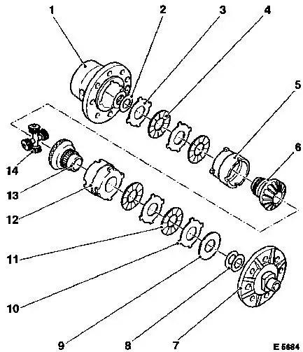 Vauxhall Workshop Manuals > Omega B > F Rear Axle and Rear