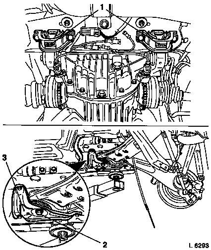Vauxhall Workshop Manuals > Omega B > F Rear Axle and Rear