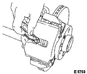 Vauxhall Workshop Manuals > Omega B > H Brakes > Rear