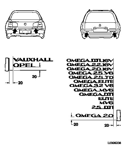 Vauxhall Workshop Manuals > Omega B > B Paint > Painting