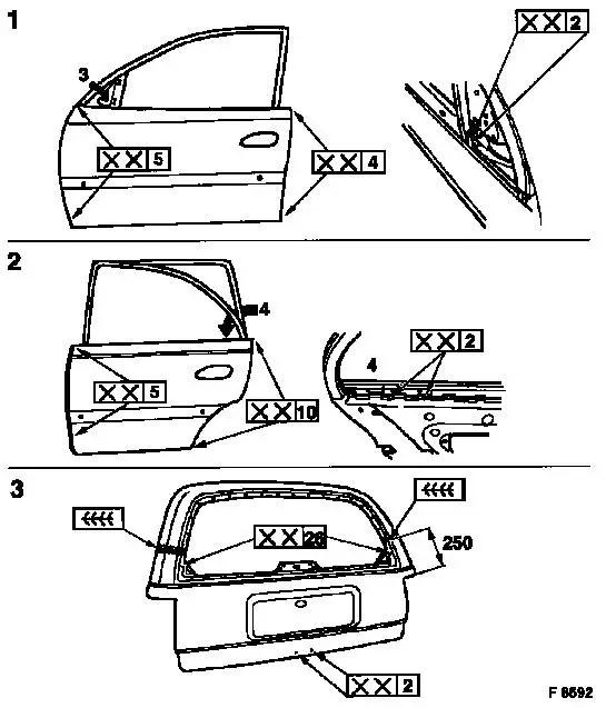 Vauxhall Workshop Manuals > Vectra B > A Maintenance, Body