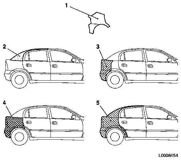Vauxhall Workshop Manuals > Vectra B > B Paint > Painting