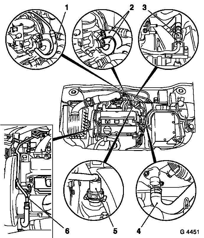 Vauxhall Workshop Manuals > Vectra B > J Engine and Engine