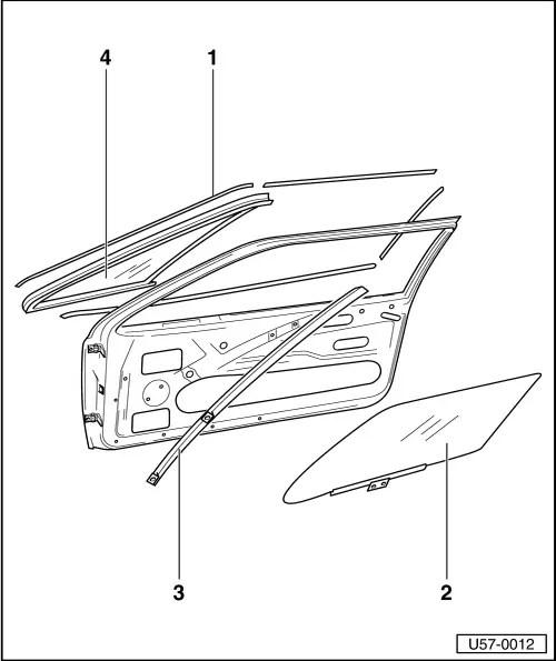Volkswagen Workshop Manuals > Golf Mk1 > Body > Body repair work. > Front door, central locking