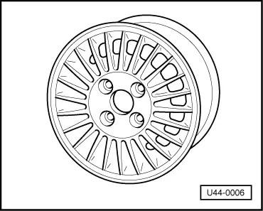 Volkswagen Workshop Manuals > Golf Mk1 > Running gear > Wheels, tyres. axle align > Wheels and