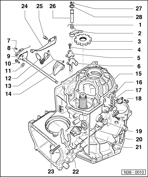 Volkswagen Workshop Manuals > Golf Mk3 > Automatic gearbox
