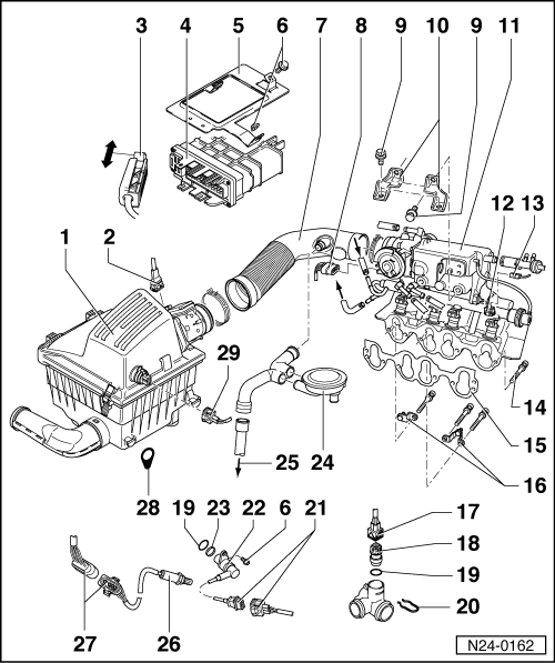 Volkswagen Workshop Manuals > Golf Mk3 > Power unit > Simos injection and ignition system