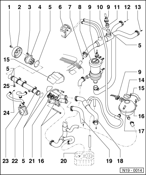 Volkswagen Workshop Manuals > Golf Mk3 > Power unit > 6