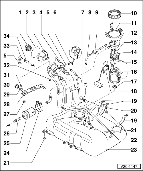 Volkswagen Golf Fuel Filter