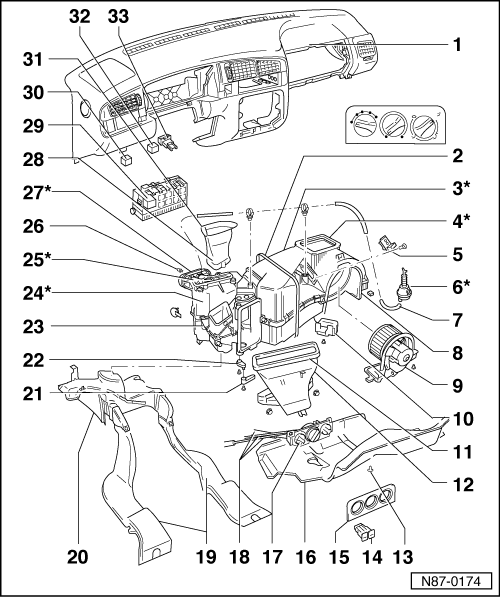 Volkswagen Workshop Manuals > Golf Mk3 > Heating