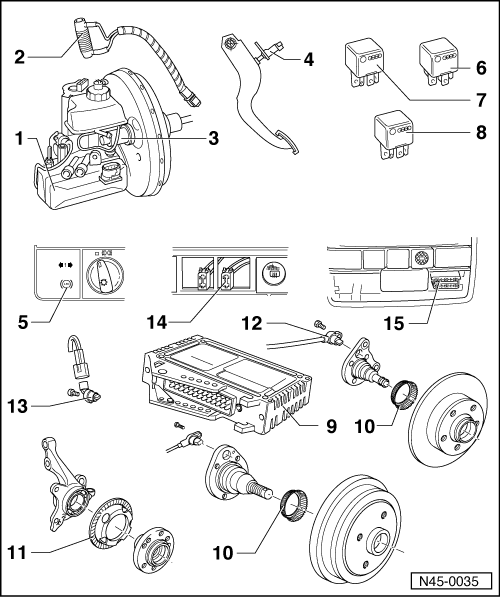Volkswagen Workshop Manuals > Golf Mk3 > Running gear self
