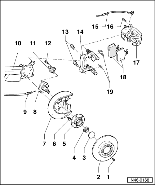 Volkswagen Workshop Manuals > Golf Mk4 > Brake systems