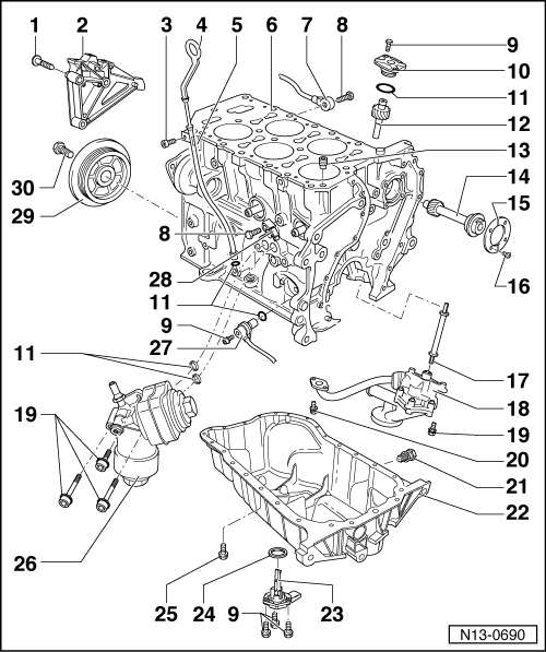 Volkswagen Workshop Manuals > Golf Mk4 > Engine > 5-cyl