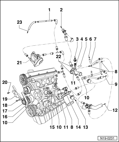 Vw Audi 1 8t Coolant System Parts Diagram. Audi. Wiring