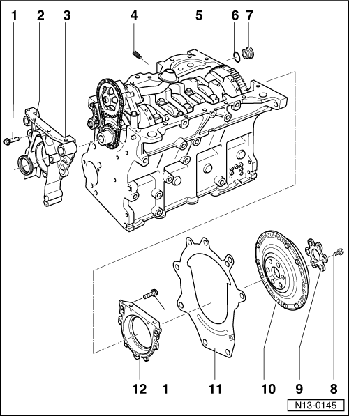 Volkswagen Workshop Manuals > Golf Mk4 > Engine > 4