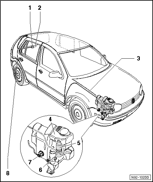 Volkswagen Workshop Manuals > Golf Mk4 > Vehicle electrics