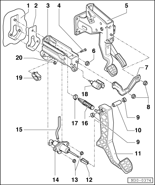 Volkswagen Workshop Manuals > Golf Mk4 > Power transmission > 5 and 6-speed manual gearbox 02M