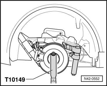 Volkswagen Rear Coil Spring Compressor Rear Shock Spring