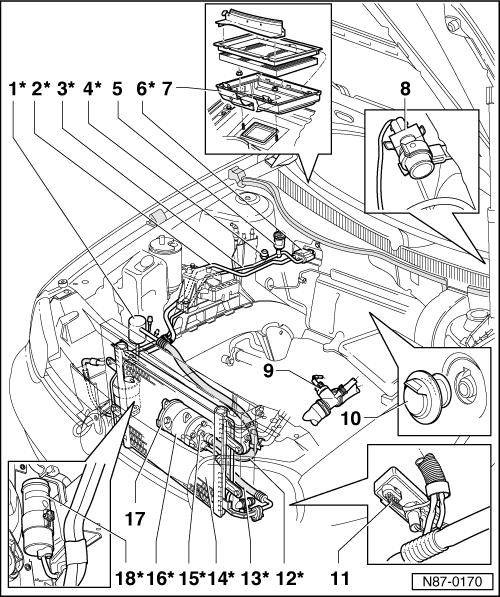 Volkswagen Workshop Manuals > Golf Mk4 > Heating