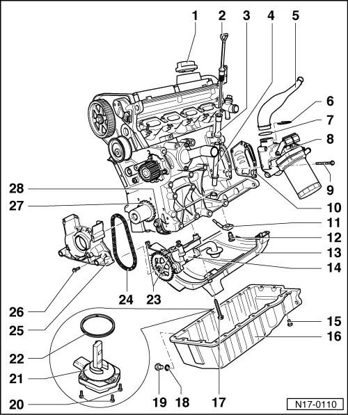 Volkswagen Workshop Manuals > Golf Mk4 > Power unit > 4