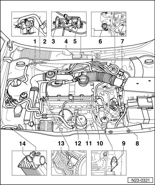 Volkswagen Workshop Manuals > Golf Mk4 > Power unit > 4