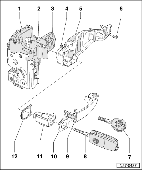 Service manual [2000 Audi Tt Driver Door Latch Repair