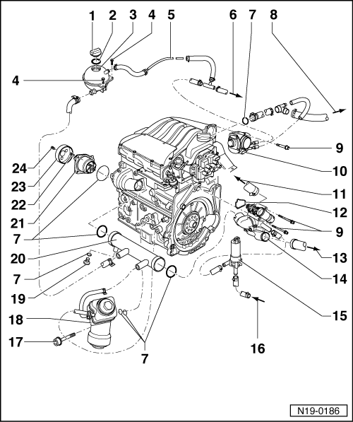 Volkswagen Workshop Manuals > Golf Mk4 > Power unit > 5