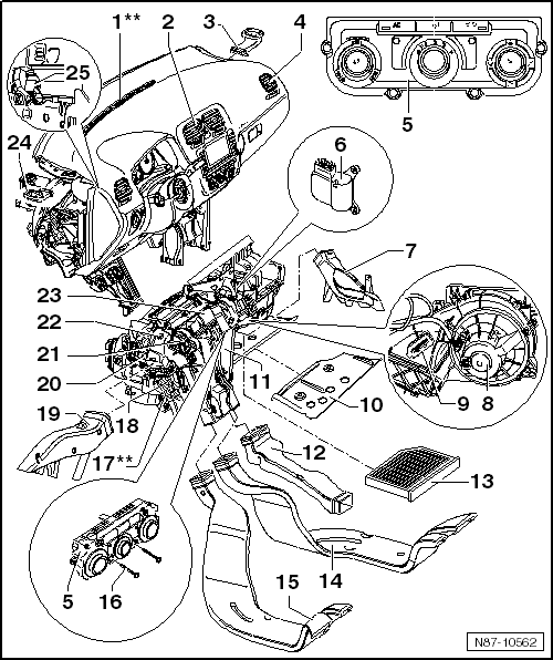 Volkswagen Workshop Manuals > Golf Mk6 > Heating