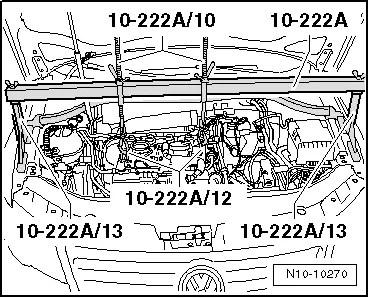 Volkswagen Workshop Manuals > Golf Mk6 > Power unit > 4-cylinder injection engine (1.8 and 2.0 l