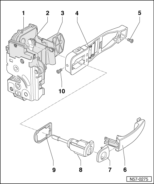 Service manual [2001 Volkswagen New Beetle Door Key Lock