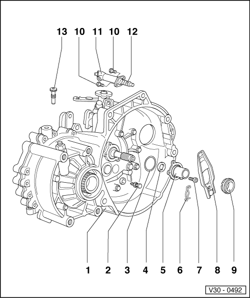 Volkswagen Workshop Manuals > Passat (B3) > Power transmission > 5 Speed Manual Gearbox 02C four