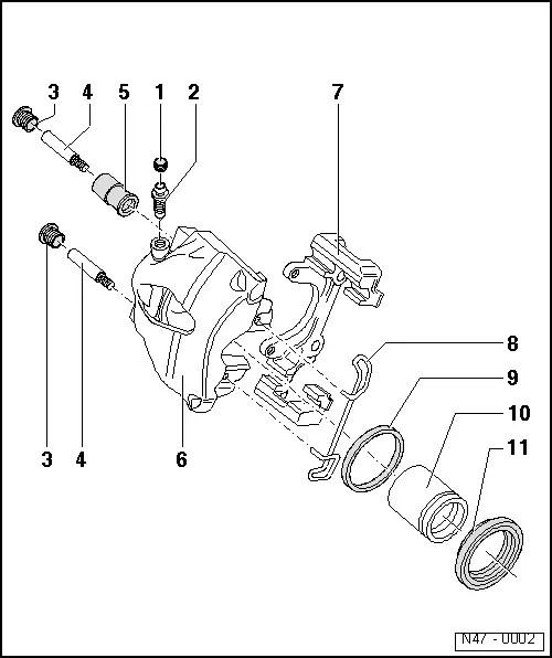 Volkswagen Workshop Manuals > Passat (B3) > Running gear > Brakes, hydraulics, regulator, servo