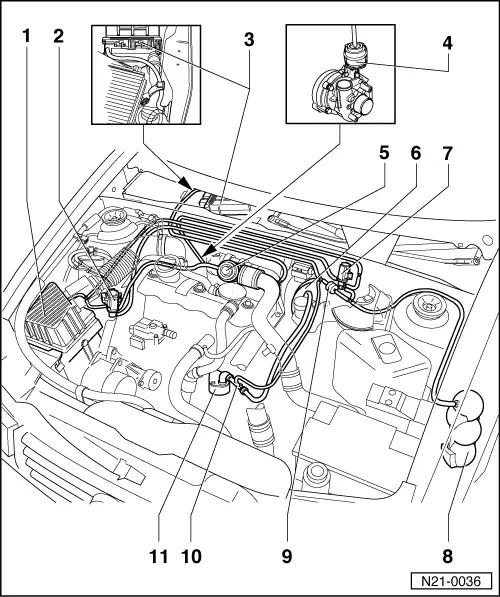 Volkswagen Engine Fuel System Diagram, Volkswagen, Free