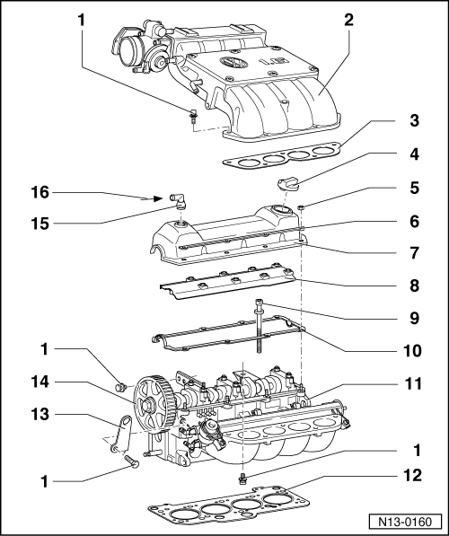 Volkswagen Workshop Manuals > Passat (B3) > Power unit > 4