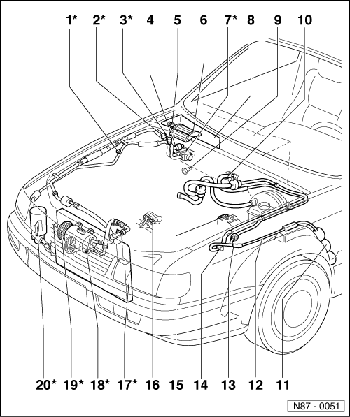 Volkswagen Workshop Manuals > Passat (B3) > Heating