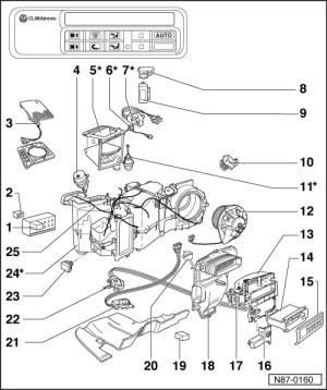 Volkswagen Workshop Manuals > Passat (B3) > Heating, ventilation, air conditioning system