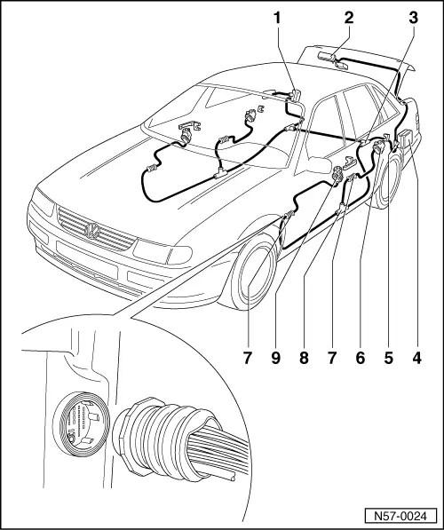 Passat Central Locking Ledningsdiagram