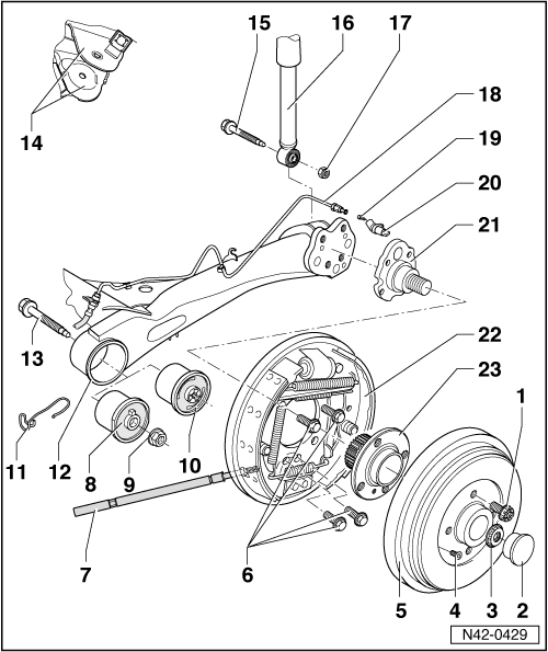 Volkswagen Workshop Manuals > Polo Mk3 > Running gear
