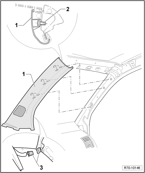 [9n/9n3] Demontaż podsufitki [3D + szyberdach]