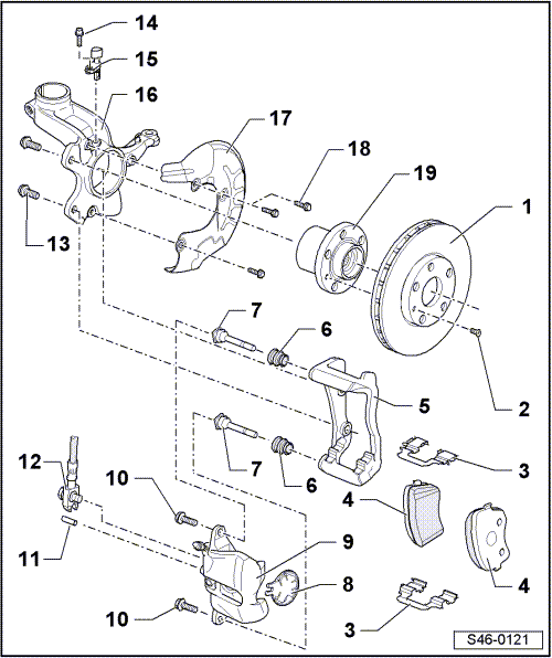 Volkswagen Workshop Manuals > Polo Mk4 > Brake systems