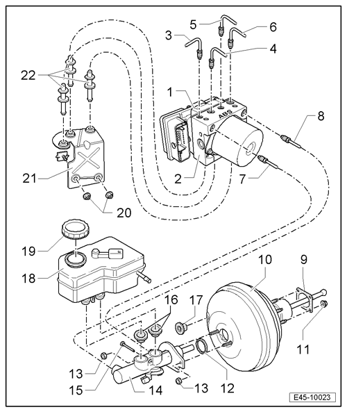 Ford abs hydraulic assembly