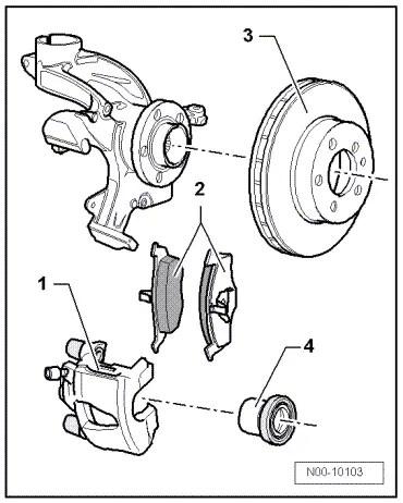 Volkswagen Workshop Manuals > Up! > Brake systems