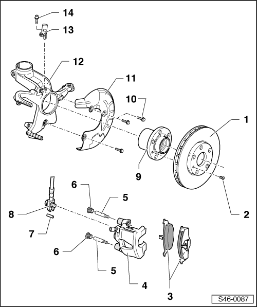 Volkswagen Workshop Manuals > Up! > Brake systems > Brake