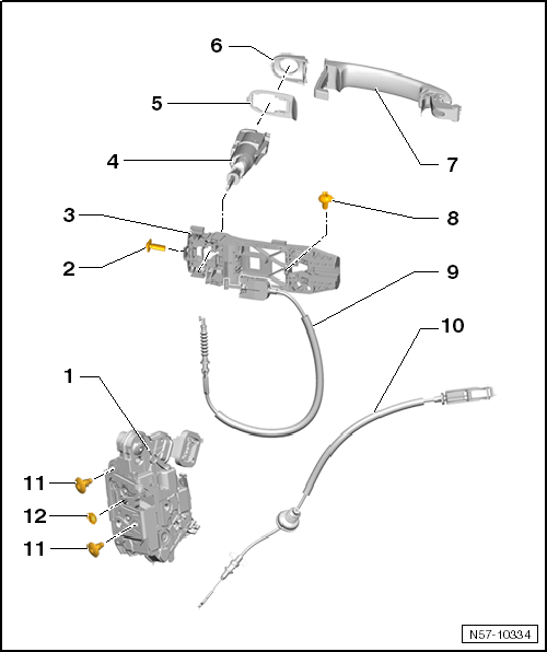 Volkswagen Workshop Manuals > Up! > Body > General body