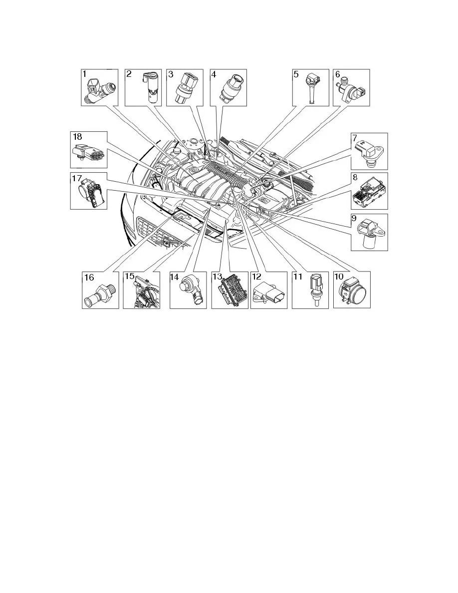 Bestseller: Engine Management Engine Sensors Location