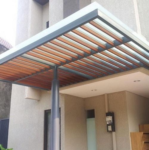 kanopi baja ringan vs kayu harga per meter sukabumi cianjur bogor