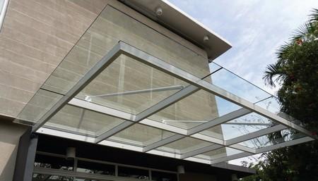 kanopi baja ringan atap kaca harga tempered sukabumi cianjur bogor bengkel las