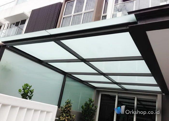 kanopi baja ringan atap kaca harga tempered laminate jakarta workshop co id