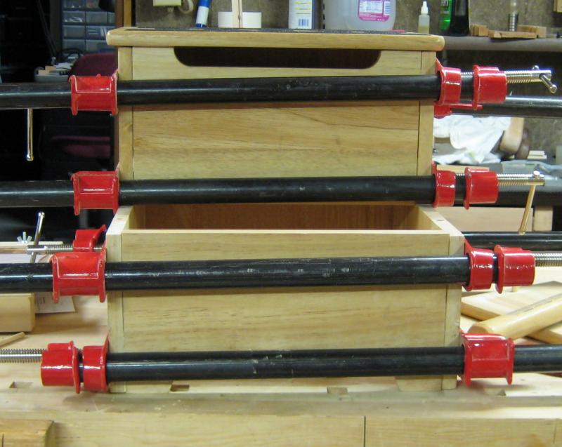Clamping the Reglued Stool